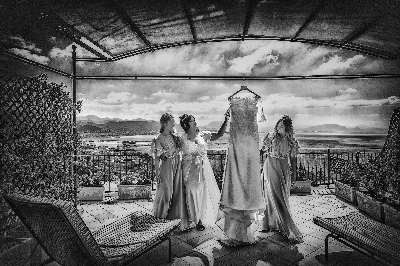 il vestito sposa Angelo Oliva fotografo
