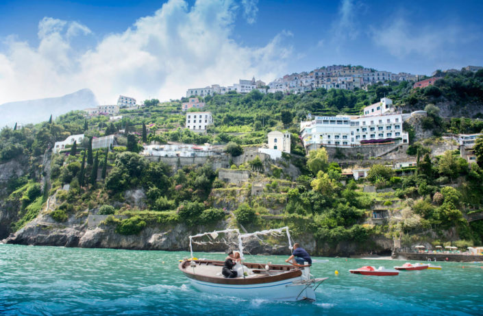 sposi in barca Costiera Amalfitana