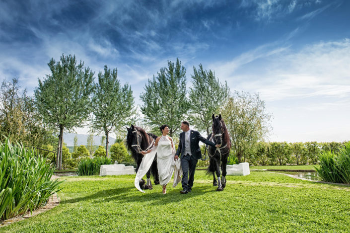 Araba Fenice ristorante sposi a cavallo
