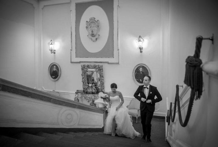 scalone villa Soglia matrimonio di Angelo Oliva