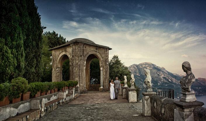 foto matrimonio villa cimbrone